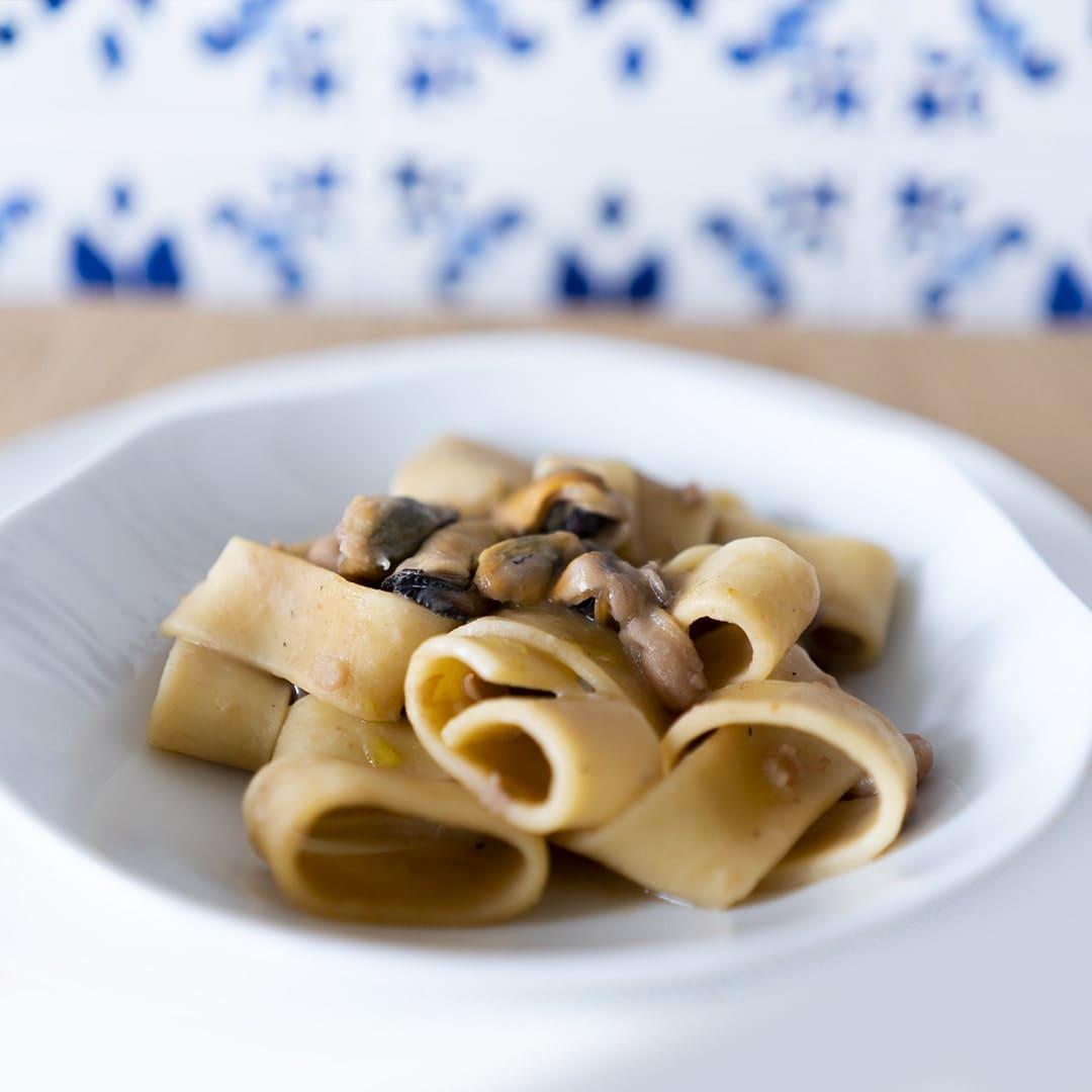La calamarata fagioli e cozze del ristorante campano di Treviso