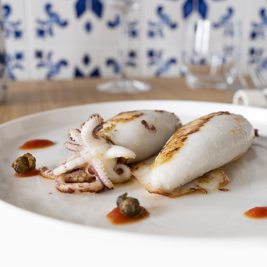 I calamari ripieni di Alma bistrot Treviso