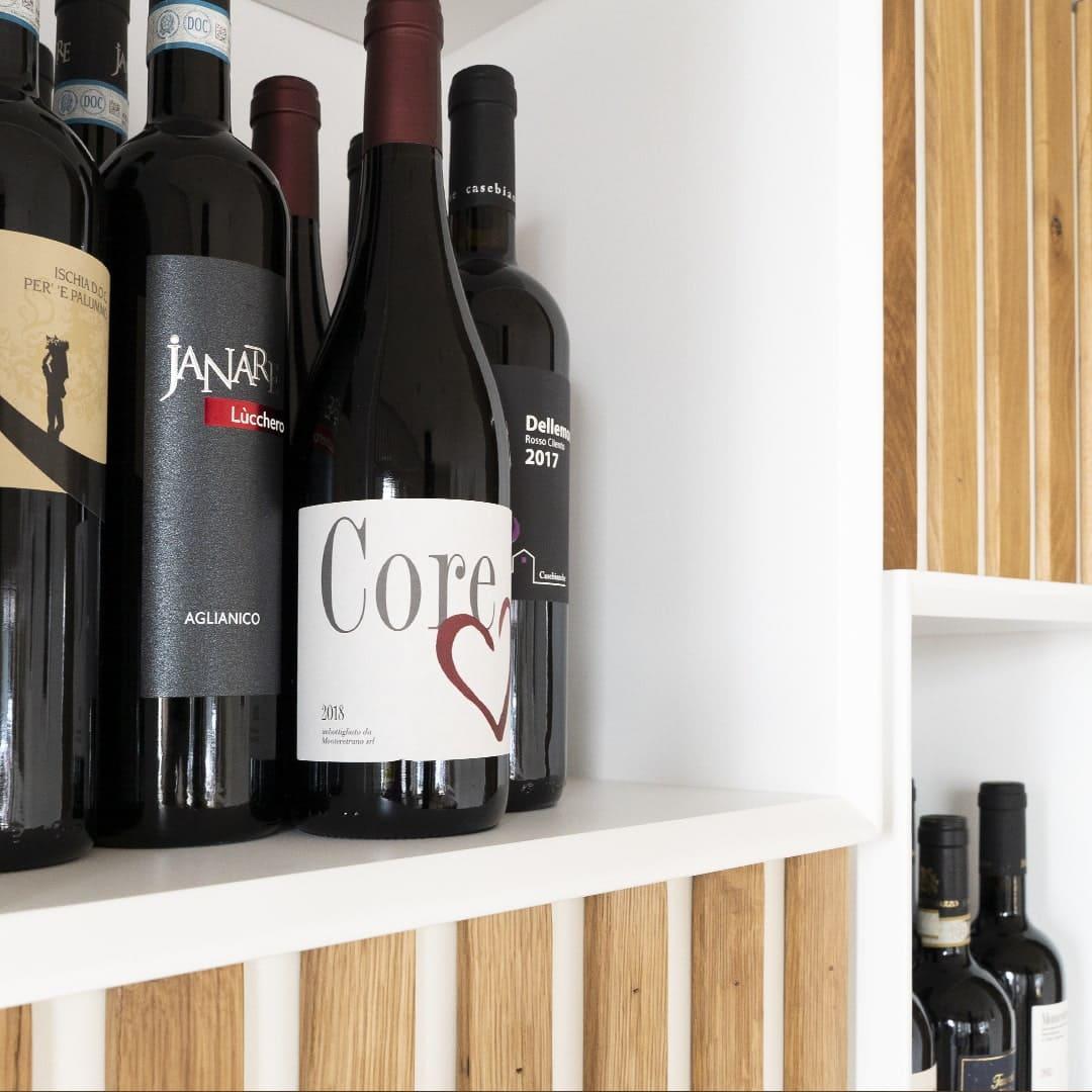 Selezione di vino rosso del Bistrot di Treviso